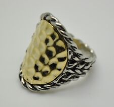 beautyful vintage style new two tone Color  fashion ring size : 10  US-SELLER-CD