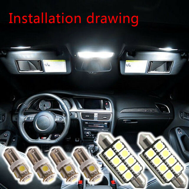 6PCS LED SMD INTERIOR LIGHT FOR AUDI S3 8L A3 8P 8PA A4 B6 B7 A6 C6 4F C5 A8 D2