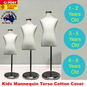 Unisex-Kids-Boy-Girl-Child-Children-Mannequin-Clothes-Dress-Form-Cotton-CHROME