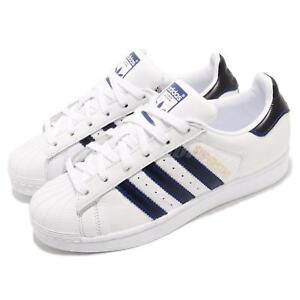 adidas Originals Superstar White Navy Blue Men Casual Shoes Sneakers ... b7d9b58a7aa
