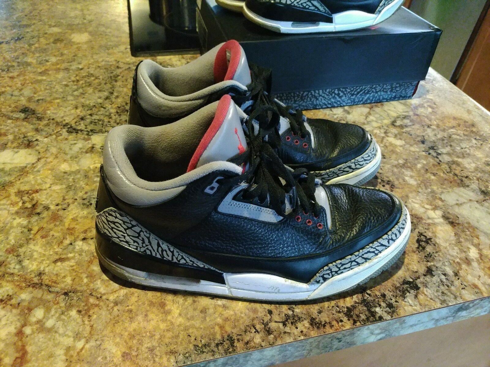 113307b26d85 Nike Air 3 Jordan 3 Air Retro (136064-010) 2011 Black Cement size 12 US (no  box) a7085e