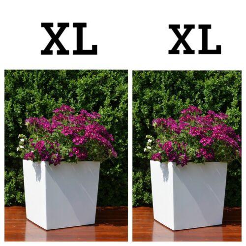 Blumenkübel mit Bewässerungssystem Hochglanz Eckig Blumentopf Einsatz Übertopf