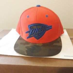 new style e26b4 a646a Image is loading Mitchell-and-ness-OKC-snapback