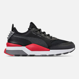 mens puma rs0 play black /high risk red casual shoes men