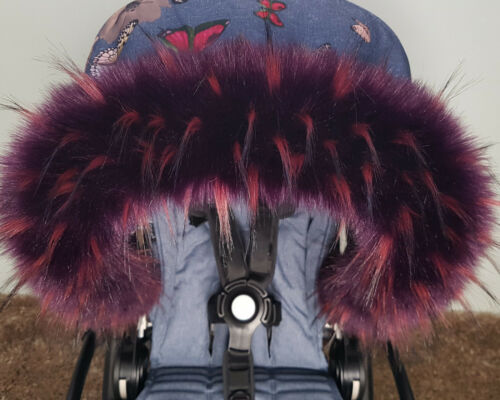 Winter Faux Fur Hood Trim For Babies Pram FAST DELIVERY Made in UK