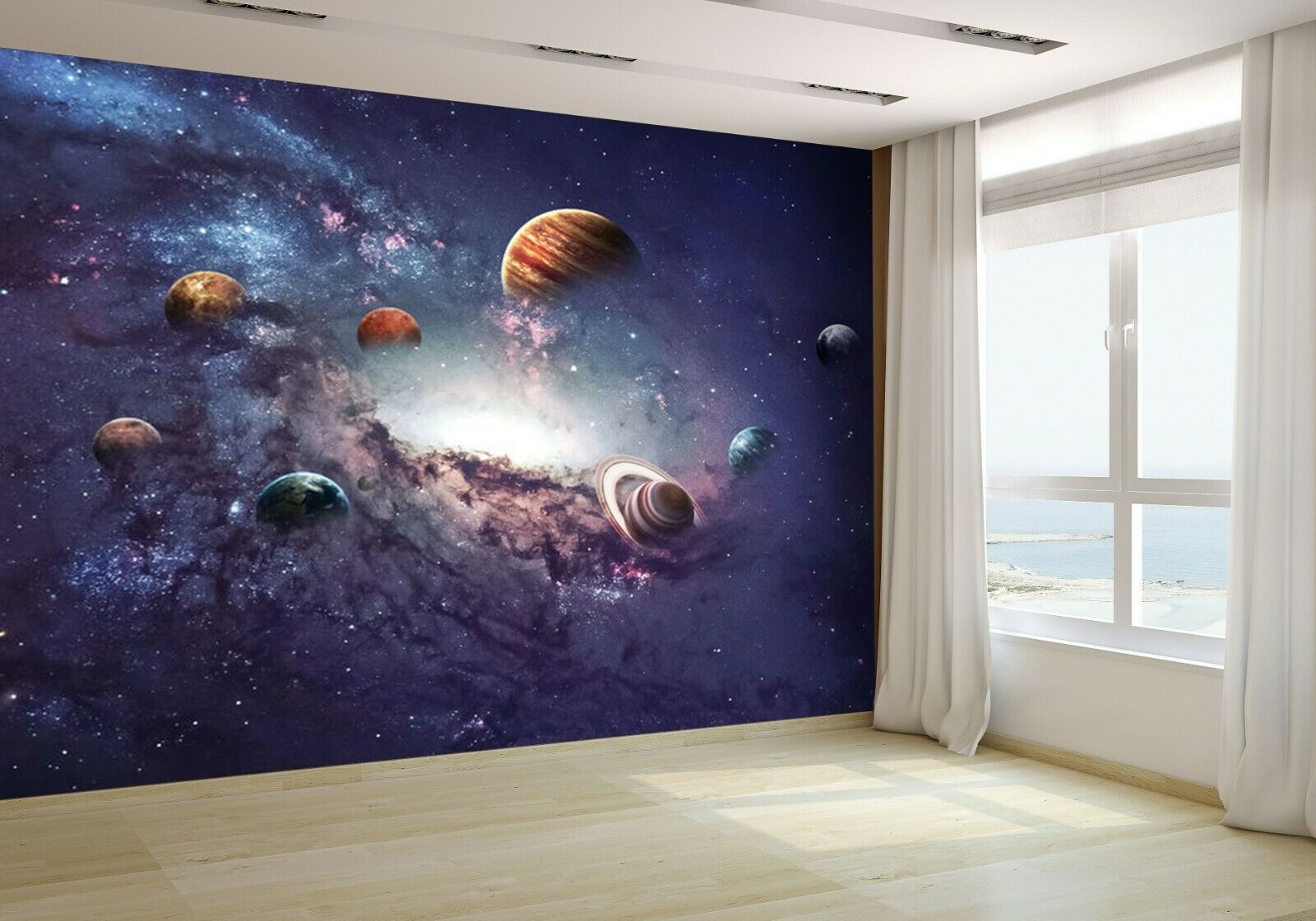 Planets of the Solar System Wallpaper Mural Photo 50430104 budget paper