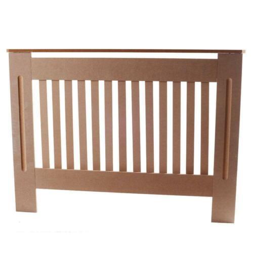 Modern MDF Board Vertical Stripe Pattern Radiator Cover Wood M Home Decoration