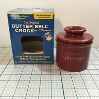 The Original Butter Bell Crock Cafe Collection By L. Tremain: Crimson -