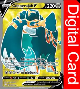 1X Copperajah V 136//192 Rebel Clash Pokemon TCG Online Digital Card