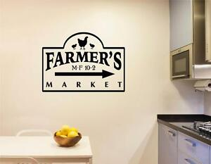 Image Is Loading Farmers Market Vinyl Decal Wall Sticker Words Letter