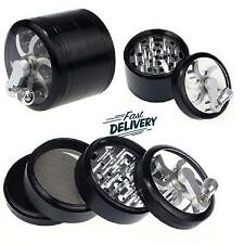 4 Piece 3 Inch Black Tobacco Herb Grinder Spice Herbal Zinc Alloy Smoke Crusher+