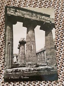 Paestum-Basilica-1961-Vintage-Postcard