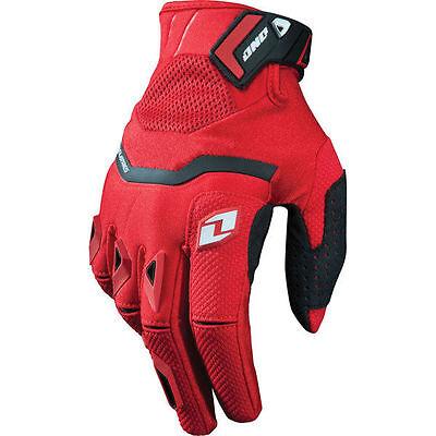 New One Industries Armada gloves 9 Medium  MX ATV Dual Sport red/black glove