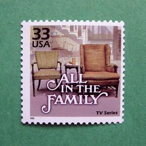 AMERICAN SITCOM, ALL IN THE FAMILY ON A REAL POSTAGE STAMP | eBay