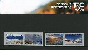 Norway-2018-MNH-Trekking-Association-4v-S-A-Pres-Pack-Mountains-Tourism-Stamps
