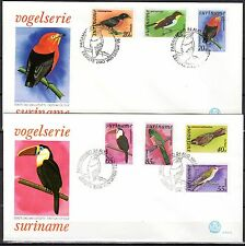 Suriname - 1977 Definitives birds - Mi. 781-87 clean FDC's