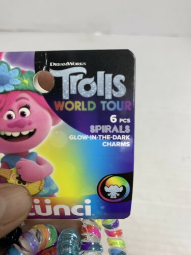 6 Pieces Glow In The Dark Charms New Details about  /Scunci Trolls World Tour Spirals For Hair