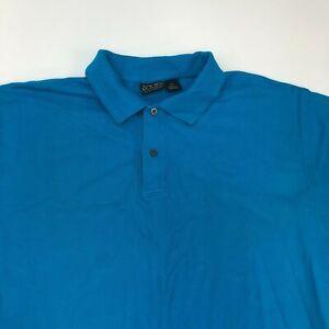 Jos. A. Bank Traveler's Polo Shirt Men's 2XL XXL Short Sleeve Blue Casual Cotton