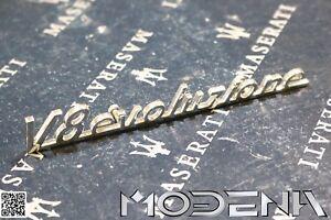 Maserati-Emblem-Dreizack-Tridente-Badge-Mark-Metall-Chrom-QP-V8-Evoluzione-Evo