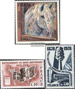 Frankreich-2061-2067-2068-kompl-Ausg-postfrisch-1978-Sondermarken