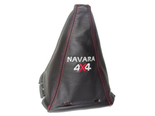 FRAME FOR NISSAN NAVARA D40 05-09 GEAR SHIFT GAITER LEATHER EMBROIDERY RED