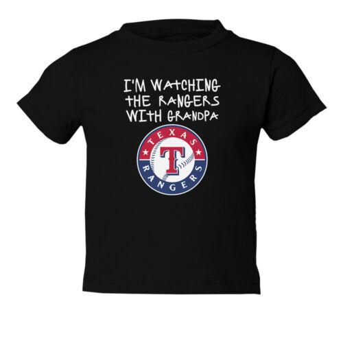 Texas Rangers Cute Watching With Grandpa Toddler T-Shirt
