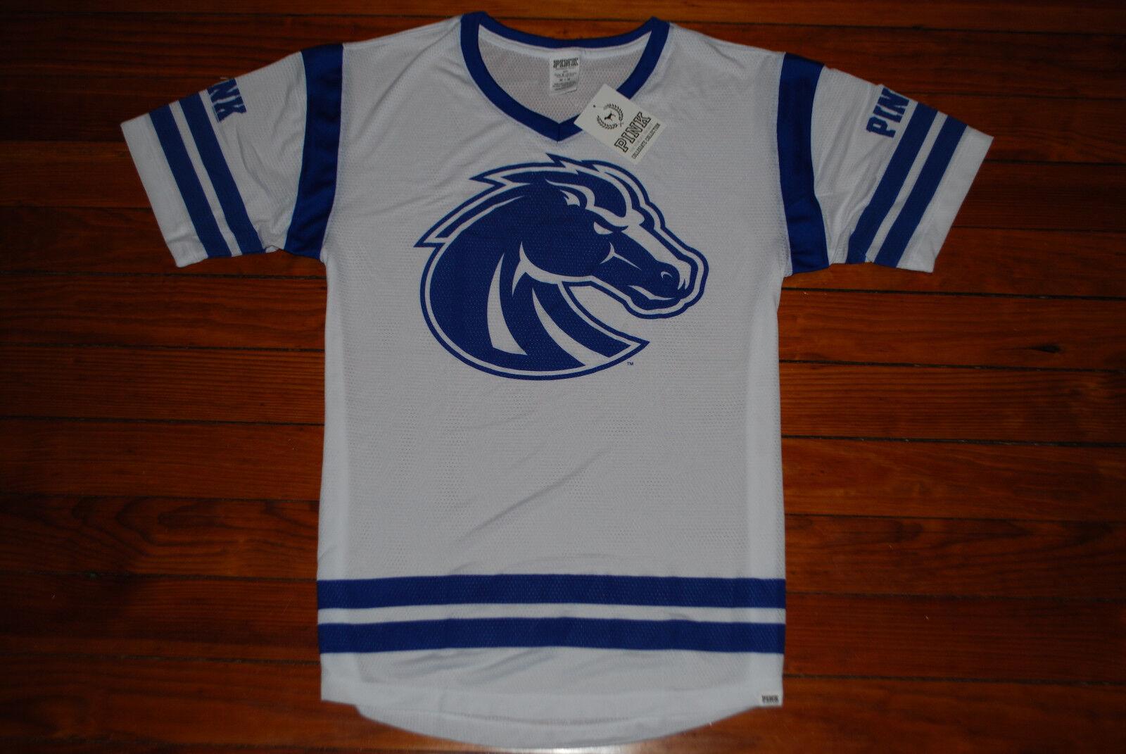 NEW Woherren Victoria's Secret VS Rosa Boise State Broncos Jersey Shirt (Medium)