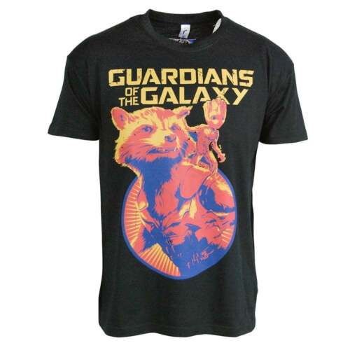 2 Rocket And Groot Mens T Shirt Black Film Official Guardians Of The Galaxy Vol