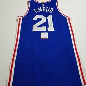 best service 948e1 664f6 Details about Joel Embiid signed authentic Rev 30 jersey PSA/DNA Sixers  autographed 76ers