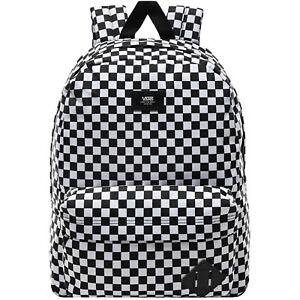 Vans Unisex Old Skool III Adjustable Strap Backpack - Black/White Check