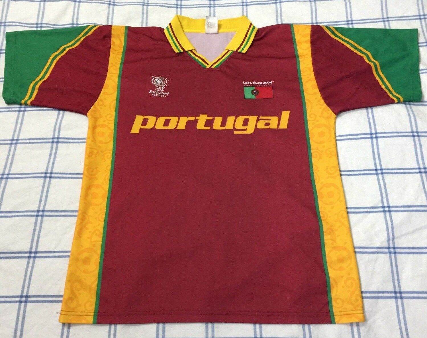 VTG Portugal Jersey Shirt Sz Large Futbol Soccer Football RARE 2004 EURO HOST