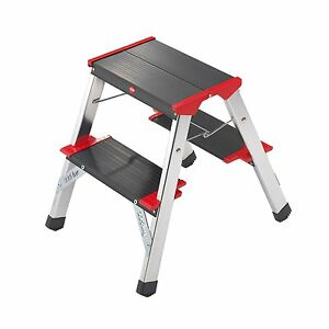 image is loading double sided two tread step ladder stool folding - Kitchen Step Ladder