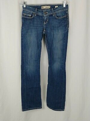 """Ambitious Bke Women's Sabrina Slim Boot Denim Jeans Cotton Blend Sz 27x31.5 30""""w X 31.5"""" Making Things Convenient For The People Women's Clothing"""