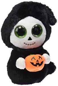 Ty-Cuddly-Plush-Treats-the-Ghost-Beanie-Boo-Halloween-Soft-Toy-15cm