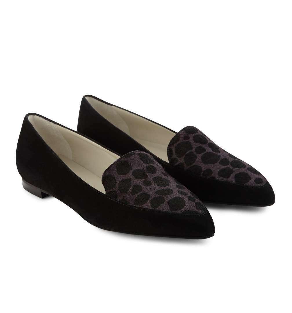 3e19678f299ec BNIB HOBBS astrid leather pony hair hair hair shoes flat loafers ...