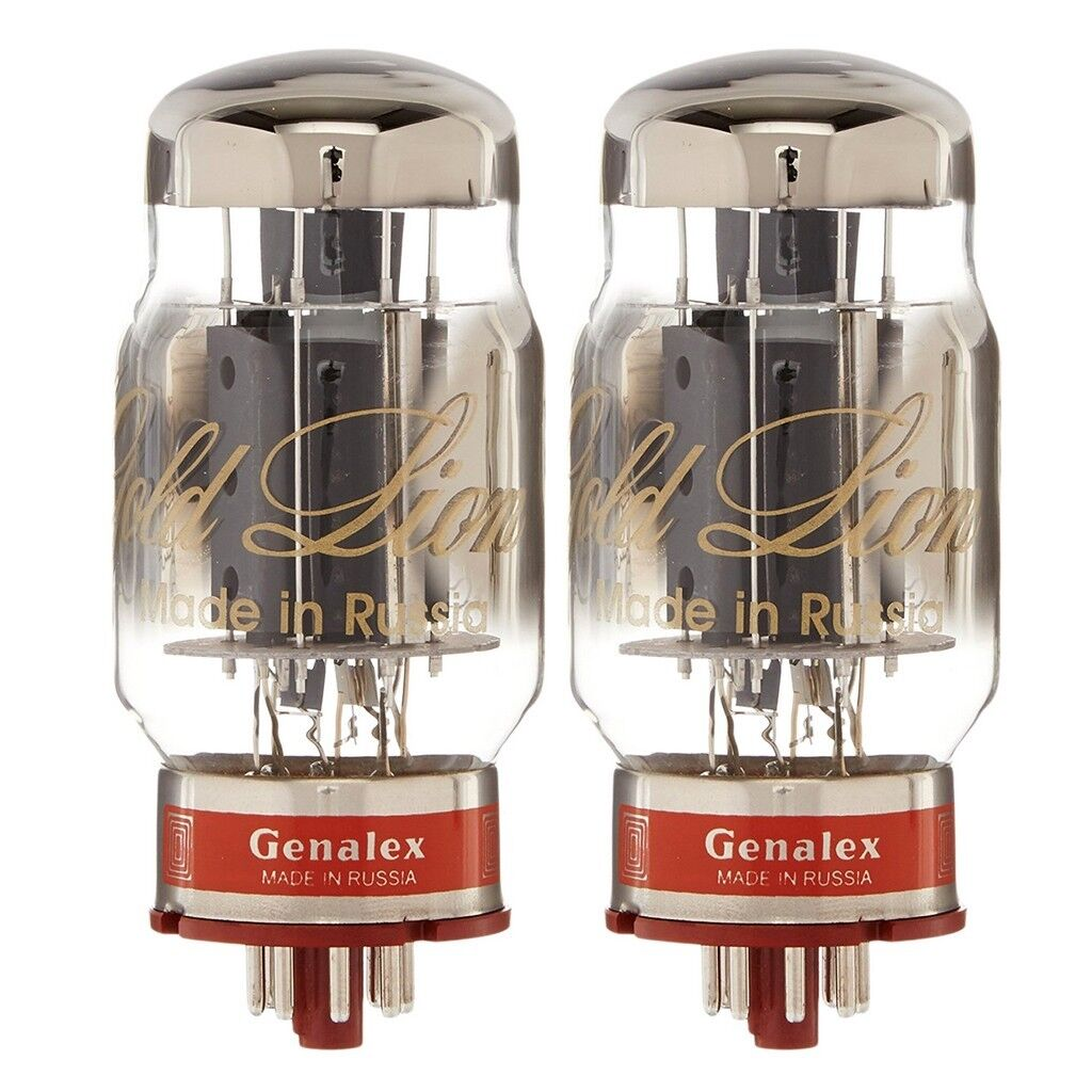 Brand New Mathed Pair (2) Genalex Gold Lion Reisue KT88   6550 Vacuum Tubes