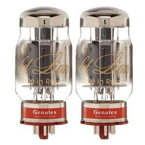 Brand New Matched Pair (2) Genalex Gold Lion Reissue KT88 / 6550 Vacuum Tubes