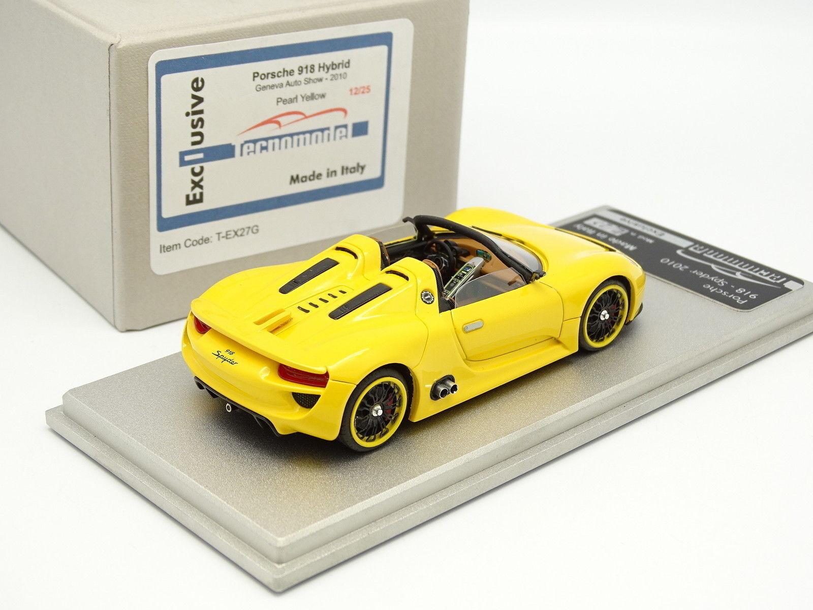 Tecnomodel 1 43 - - - Porsche 918 Hybrid Geneva 2010 Pearl Yellow 25 ex 7b2cff