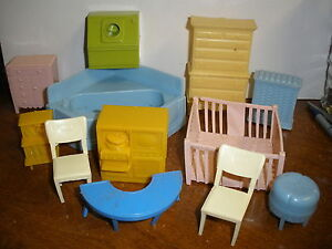 Have faced vintage plastic dollhouse furniture
