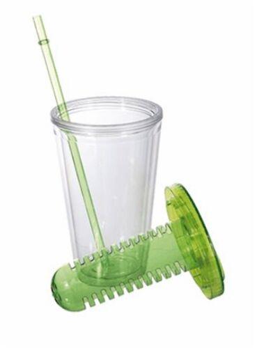 400 ml Kunststoff BPA-frei ca Trinkbecher mit Filtereinsatz /& Trinkhalm