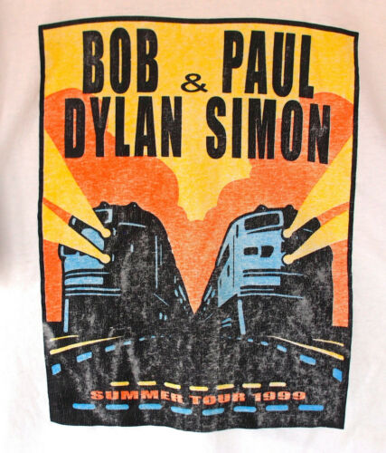 Bob Dylan + Paul Simon tour T-Shirt 1999 XL