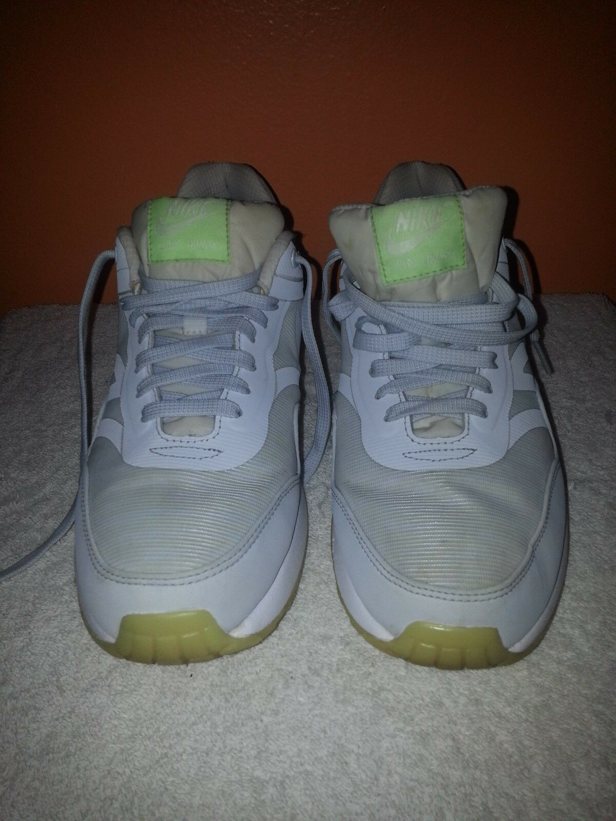 Nike Men's Air Max 1 PRM Tape Glow In The Dark White Sneakers Comfortable The most popular shoes for men and women