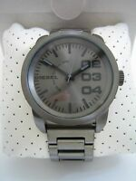 Diesel Watch Double Down Dz1558 Gunmetal Stainless Steel Bnib Genuine