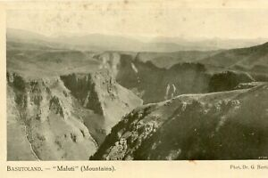 Carte-BASUTOLAND-Lesotho-MALUTI-Mountains-Les-montagnes