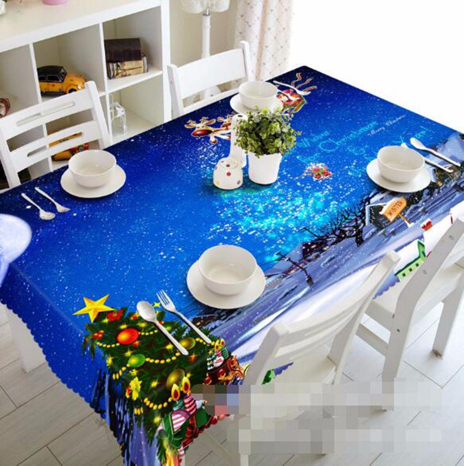 3D Pine 59 Tablecloth Table Cover Cloth Birthday Party AJ WALLPAPER UK Lemon
