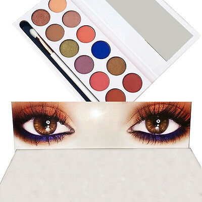 Cosmetics Shimmer Eyeshadow Palette Natural 12 Colors Smoky makeup Light