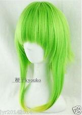 GUMI Medium Long Fashion Glass Green Mix Cosplay Straight Wig + gift