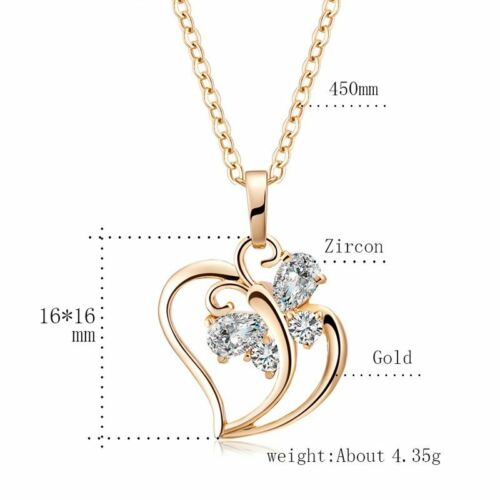 Fashion Coeur Fleurs Croix Zircone Cubique Zircon Cristal Collier Pendentif Fête Des Mères Cadeau