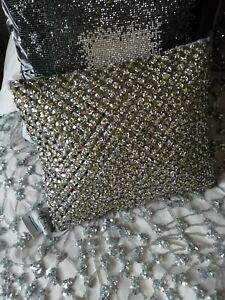 Kylie Minogue Grey Silver sparkly Cushion