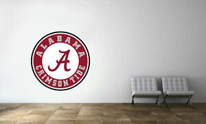 Alabama Crimson Tide Decal College Team NCAA Logo Man Cave Sport Wall Decor 1155
